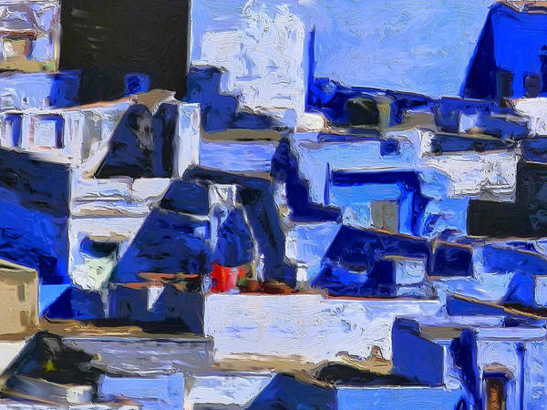 Painting - Blue City 1 by Dominic Piperata
