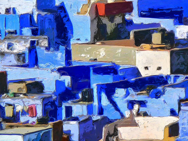 Painting - Blue City 2 by Dominic Piperata
