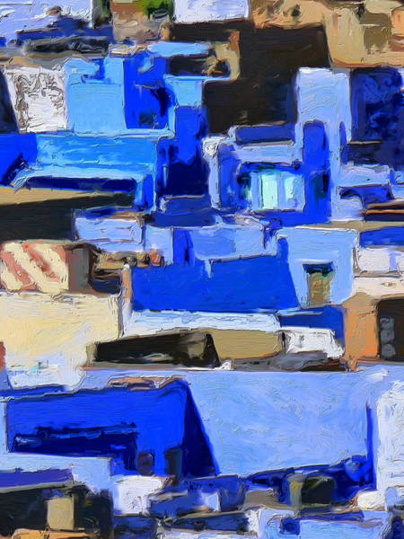 Painting - Blue City 4 by Dominic Piperata