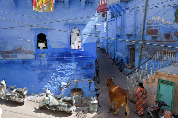 Blues Alley Photograph - Blue City, Jodhpur, Rajasthan, India by Peter Adams