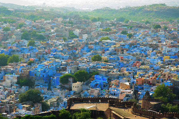 Jodhpur Wall Art - Photograph - Blue City Of Brahmpur As Seen by Inger Hogstrom