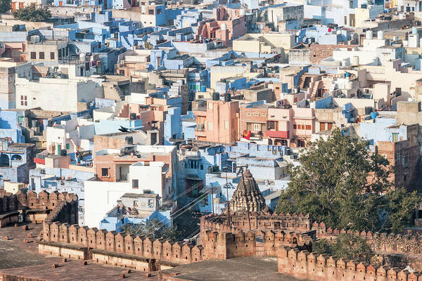 Jodhpur Wall Art - Photograph - Blue City Seen From Mehrangarh Fort by Tom Norring
