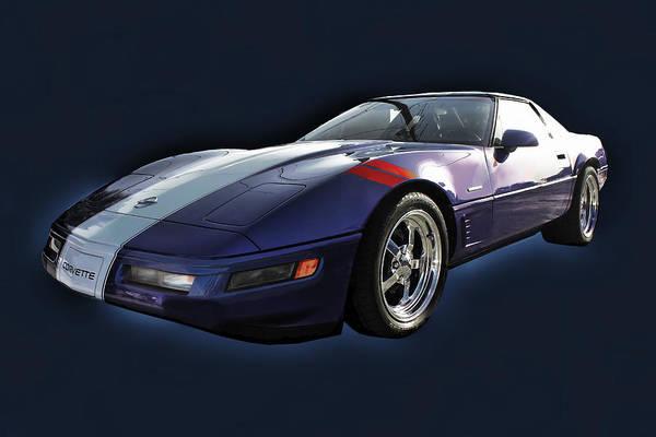 Photograph - Blue Corvette Car by Carlos Diaz