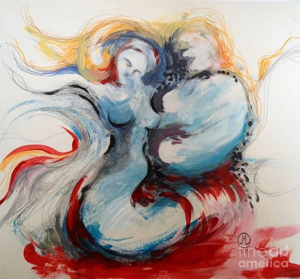 Painting - Blue Couple by Marat Essex