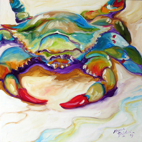 Painting - Blue Crab by Marcia Baldwin