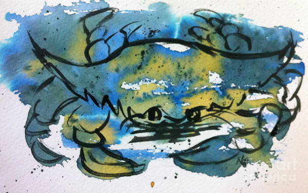 Blue Crab Art Print by Norma Gafford