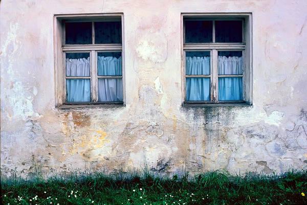 Photograph - Blue Curtains by KG Thienemann