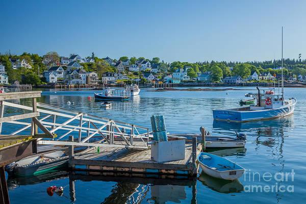 Photograph - Blue Dawn At Stonington Harbor by Susan Cole Kelly