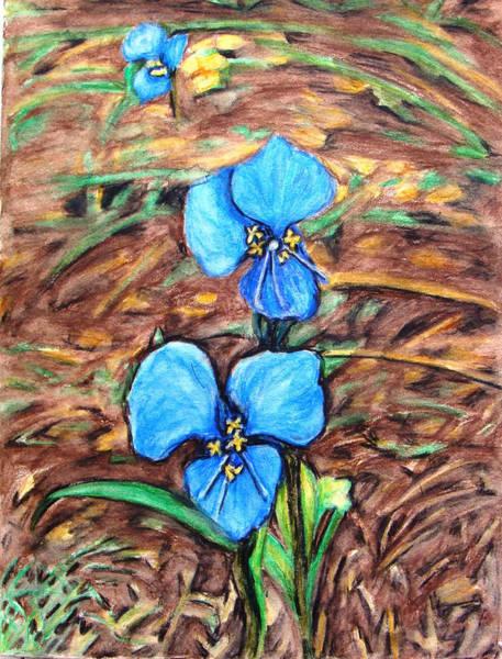 Dayflower Painting - Blue Dayflower by Lorelei Alvarez