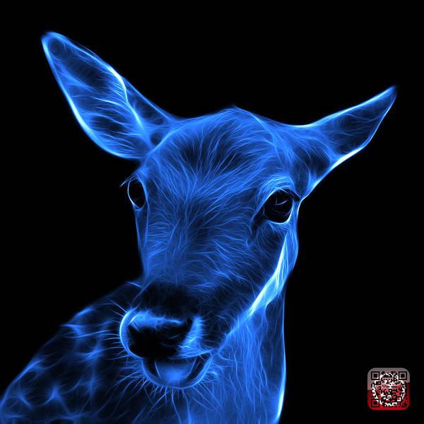 Digital Art - Blue Deer - 0401 F by James Ahn