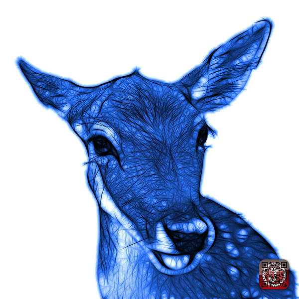 Digital Art - Blue Deer - 0401 Fs by James Ahn