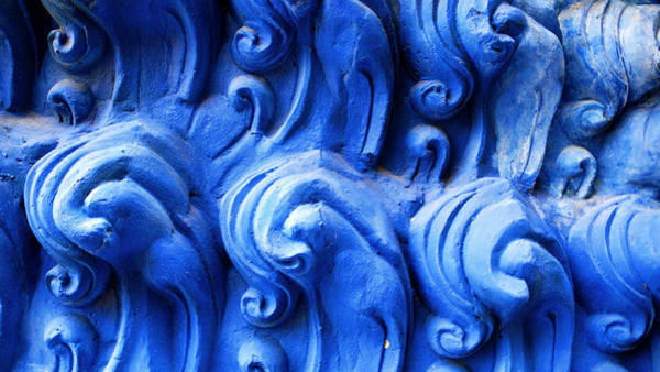 Photograph - Blue Detail - Big Buddha Temple by Charlene Mitchell