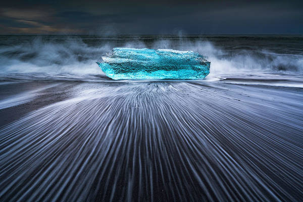 Iceland Wall Art - Photograph - Blue Diamond by Jingshu Zhu