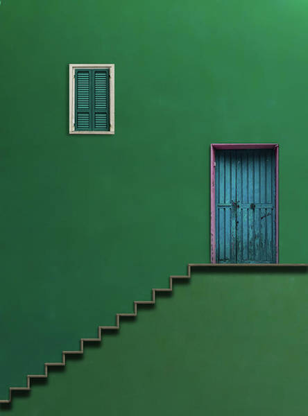 Simple Wall Art - Photograph - Blue Door by Alfonso Novillo