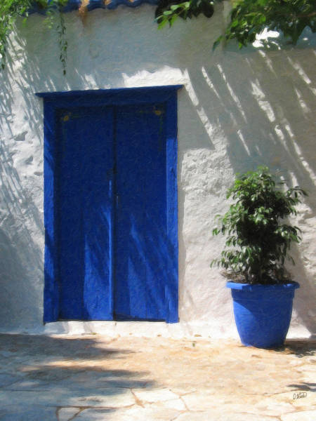 Painting - Blue Door Grk1157 by Dean Wittle