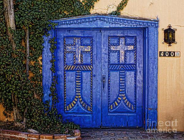 Photograph - Blue Door In Albuquerque  by Elena Nosyreva
