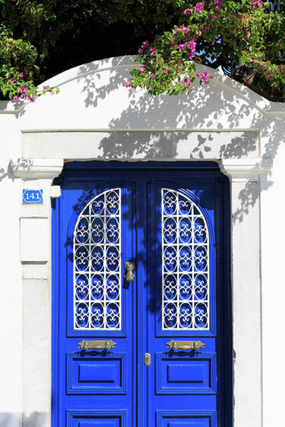 Wall Art - Photograph - Blue Door In Bodrum, Turkey by Richard Cummins