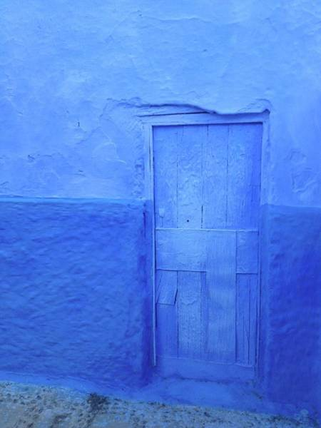 Chefchaouen Wall Art - Photograph - Blue Door In Chefchaouen by Nickydom