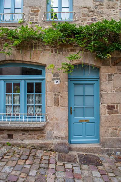 Wall Art - Photograph - Blue Door In Dinan by W Chris Fooshee
