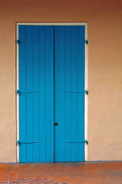 Wall Art - Photograph - Blue Door In New Orleans by Christine Till