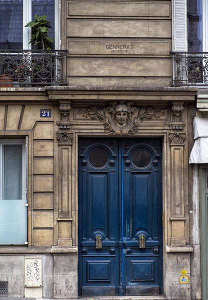 Photograph - Blue Door In Paris by Georgia Fowler