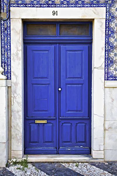 Blue Door Of Estremoz  Art Print