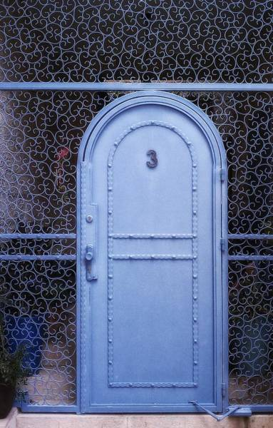 Photograph - Blue Door Old City Jerusalem Israel by Mark Fuller