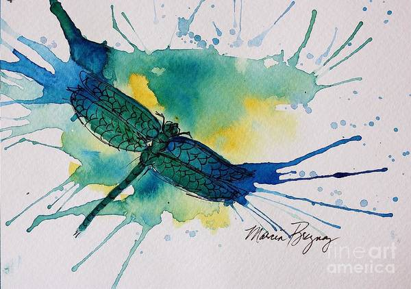 Painting - Blue Dragonfly by Marcia Breznay