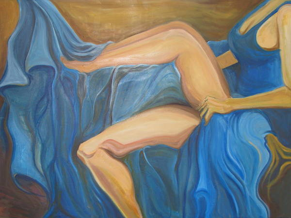 Ambiguous Painting - Blue Drapery by Brian Marcotte