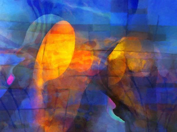 Painting - Blue Emotions by Lutz Baar