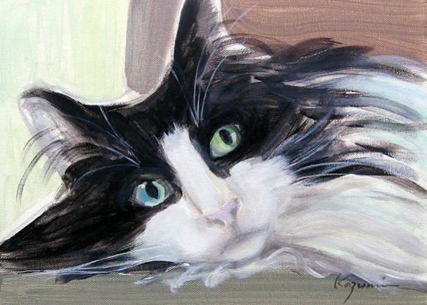 Blue Eye And Green Eye Art Print