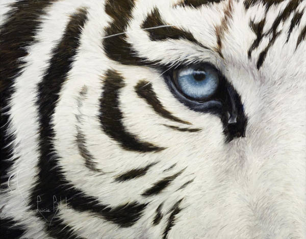 Close-up Painting - Blue Eye by Lucie Bilodeau