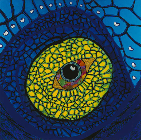 Wall Art - Painting - Blue Eye by Patrick OLeary