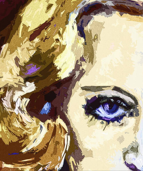 Painting - Blue Eyes Carol Lombard Modern Art by Ginette Callaway