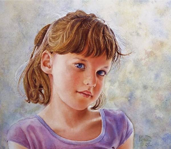 Painting - Blue Eyes by Victoria Lisi