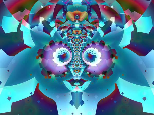 Digital Art - Blue Face Fractal by Frederic Durville