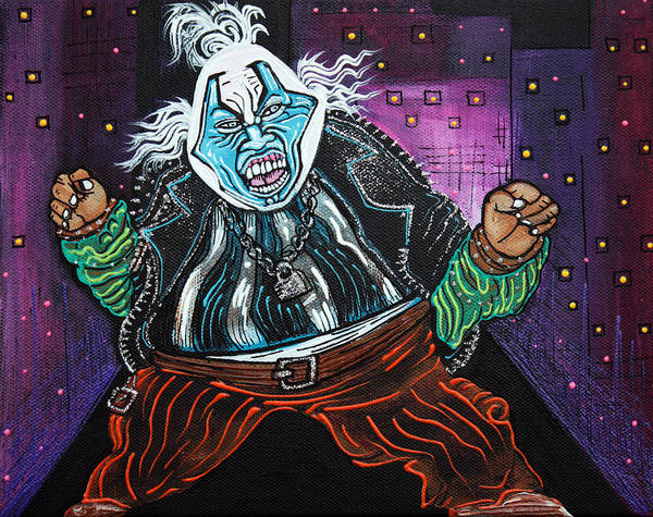 Wall Art - Painting - Blue Faced Clown by Laura Barbosa