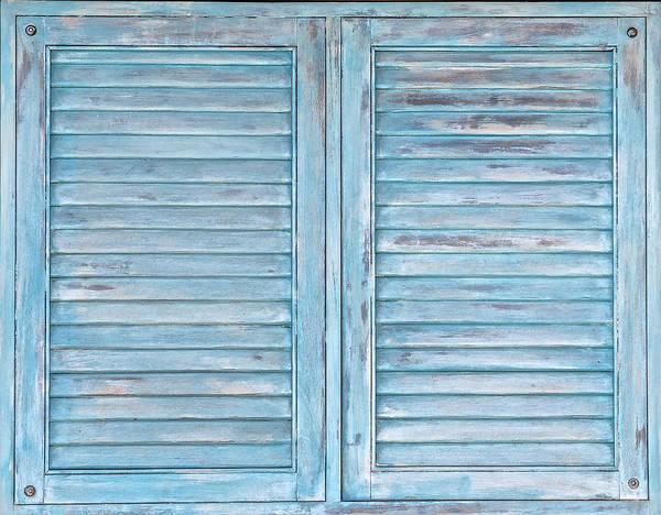 Photograph - Blue Faded Shutter Of Aruba IIi by David Letts