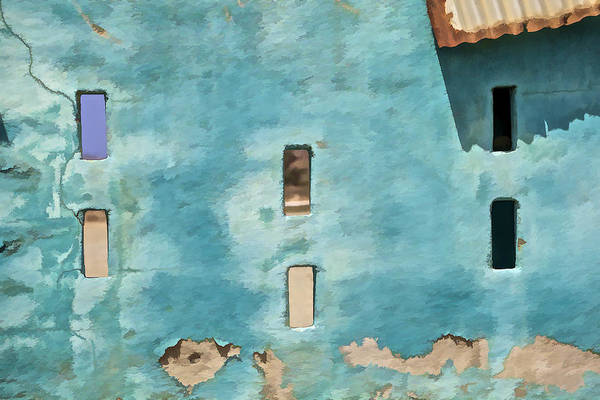 Photograph - Blue Faded Wall Of Aruba Iv by David Letts