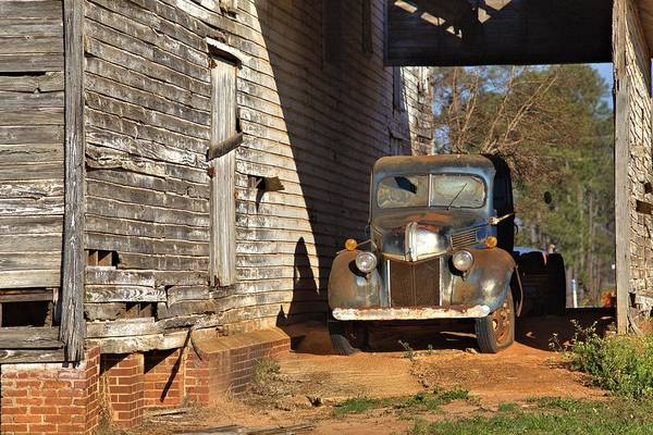 Photograph - Blue Farm Truck by Gordon Elwell