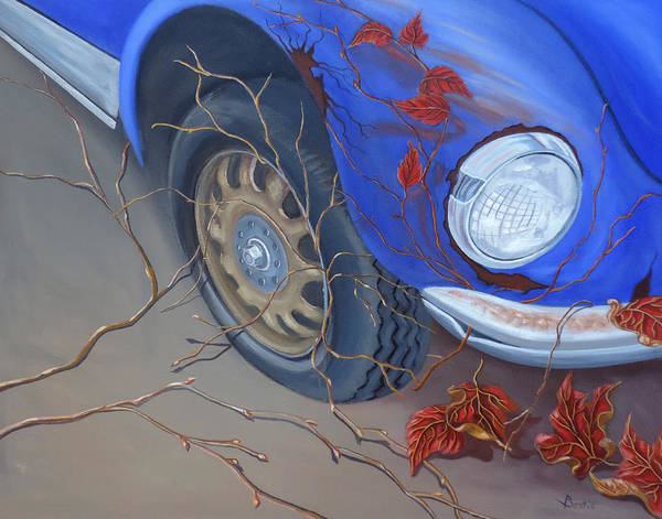 Painting - Blue Fender by Sally Banfill
