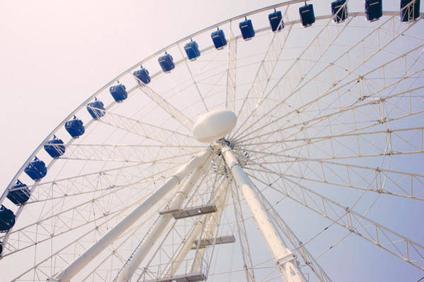 Wall Art - Photograph - Blue Ferris Wheel by Pati Photography