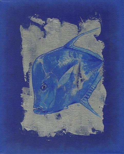 Painting - Blue Fish by Konni Jensen
