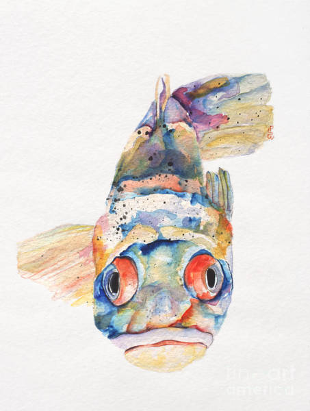 Painting - Blue Fish   by Pat Saunders-White