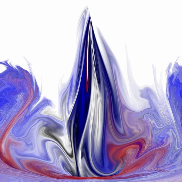 Digital Art - Blue Flame by rd Erickson