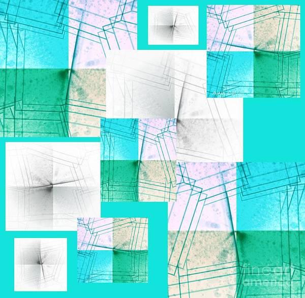 Mixed Media - Blue Flare by Ann Calvo