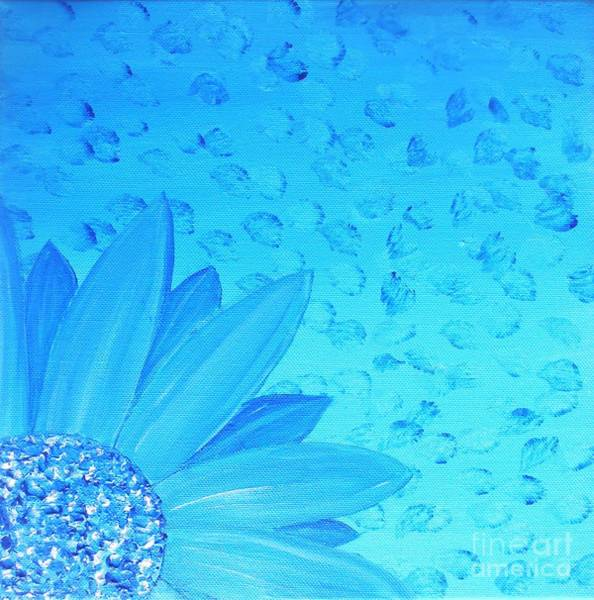 Painting - Blue Flower by Jessie Art