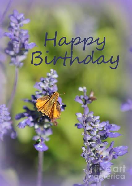 Photograph - Blue Flowers Birthday Card by Carol Groenen