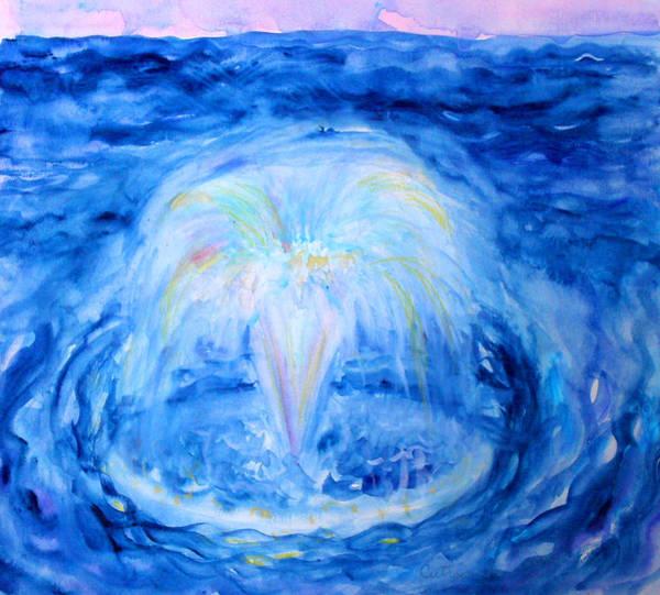 Painting - Blue Fountain by Anne Cameron Cutri