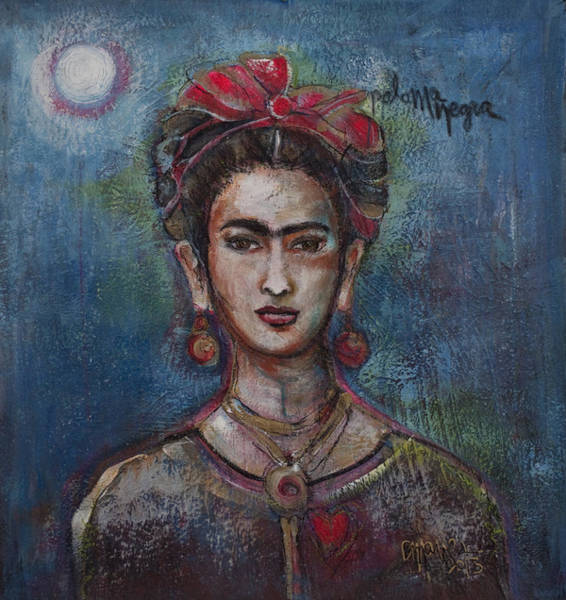 Painting - Blue Frida 2013 by Laurie Maves ART